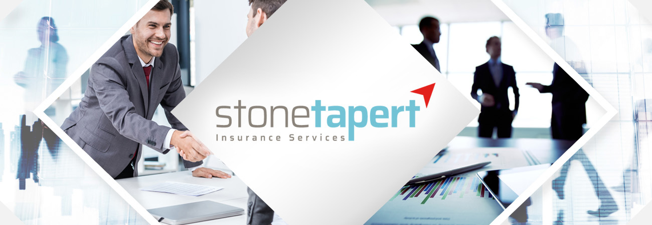Homepage Banner image with StoneTapert logo and workers